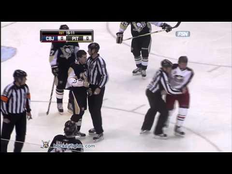 Derek Dorsett vs Ben Lovejoy Feb 8, 2011