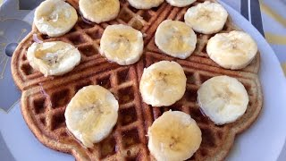 Healthy Banana Oatmeal Waffles | Kitchen Time with Neha