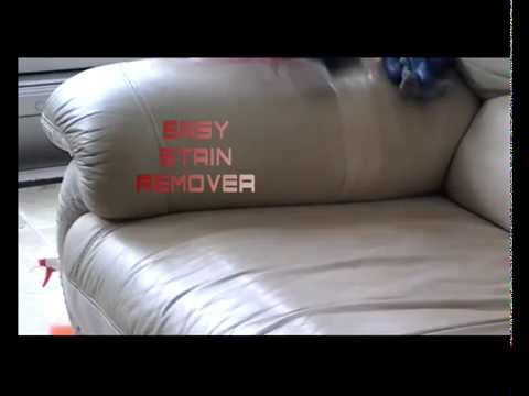 how to get marker stain out of leather sofa