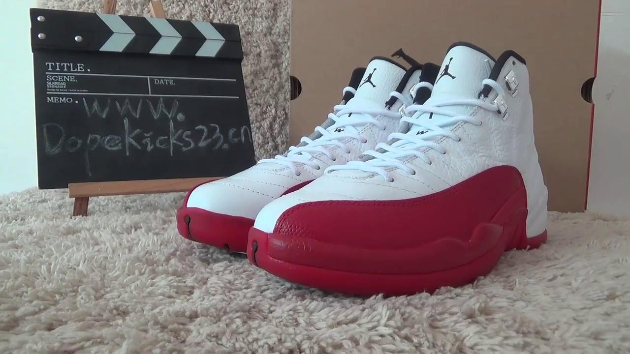 028a97453b92 authentic air jordan 12 retro cherry reviews dopekicks23 ru - YouTube