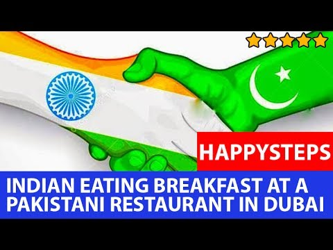 Indian Eating Breakfast at a Pakistani restaurant in Dubai