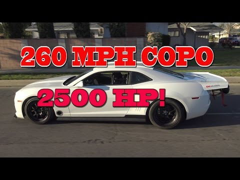 2500 HP COPO 260 MPH Texas Mile Contender.  Nelson racing Engines.