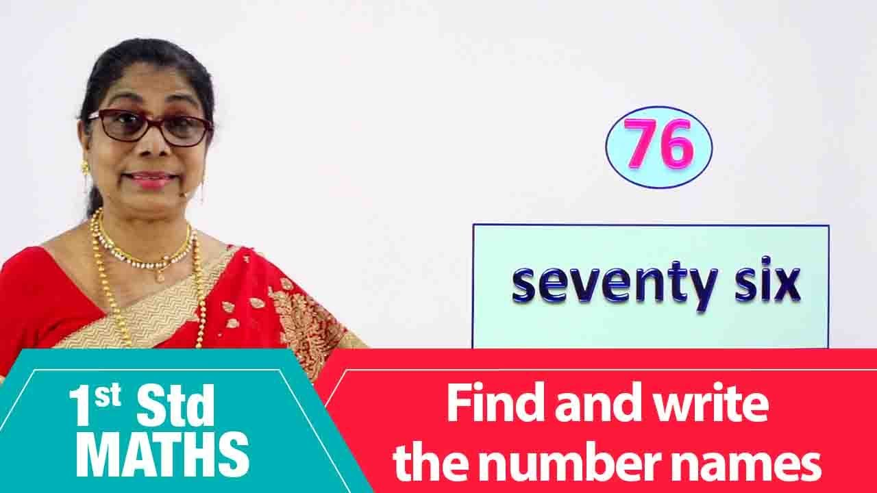 1st Std Maths   Find and write the number names   Mathematics Class -1   Maths for beginners Part-58