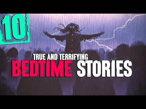 10 SCARY Bedtime Stories With Rain Sound Effects And Thunderstorm Sounds