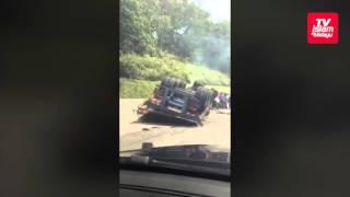 Kemalangan lori dengan kereta di lebuhraya KL-Karak
