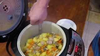 Овощное рагу с индейкой в мультиварке Redmond 4500