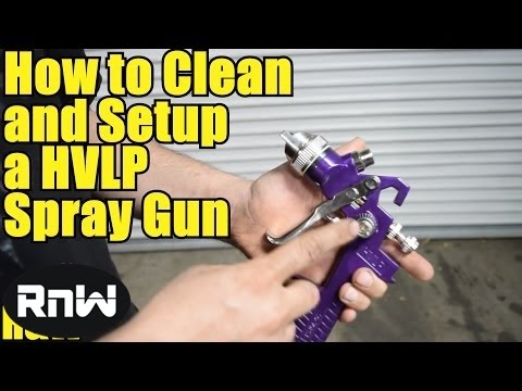 Harbor Freight HVLP Spray Gun Review - Also Cleaning and Setup Instructions