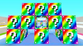Minecraft 1.8 RAINBOW LUCKY BLOCK RACE! (Lucky Block Mod) w/ The Pack!