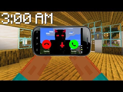 Who CALLED me in Minecraft at 3:00 AM?!