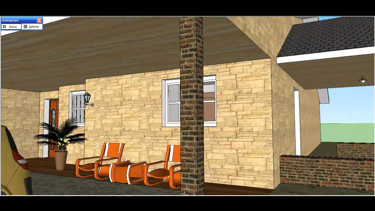 Construccion de casa sketchup youtube for Programas para hacer casas virtuales