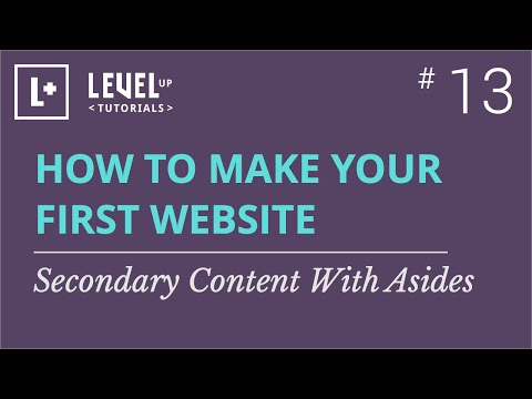 #13 - Secondary Content With Aside In HTML