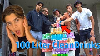 Den Som SLÄPPER FINGRET SIST får 100 LITER CleanDrinks