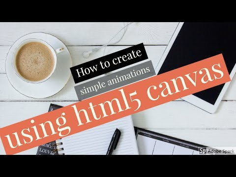 How to create animations using HTML5 canvas element