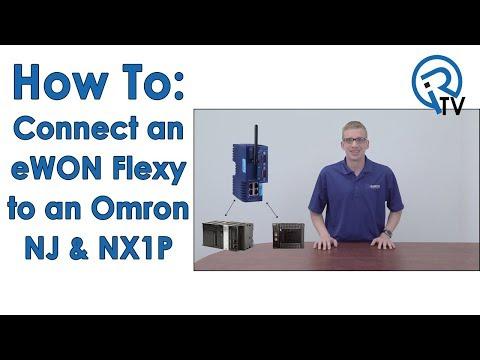 Connect an eWON Flexy to an Omron NJ & NX1P - YouTube