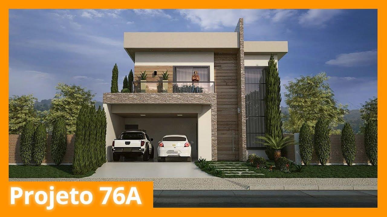 Sobrado com fachada moderna 76a youtube for Idee regalo casa moderna