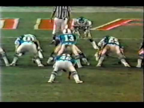 Nat Moore of the Miami Dolphins Touchdowns from Dan Marino 84