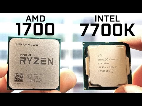 AMD 1700 vs Intel 7700K - CPU Comparison