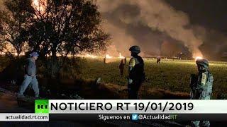 NOTICIERO RT 🔴 66 muertos en la explosión de una toma clandestina de combustible en México