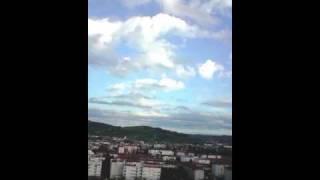 Vol easystat au dessus d'Aurillac Cantal France