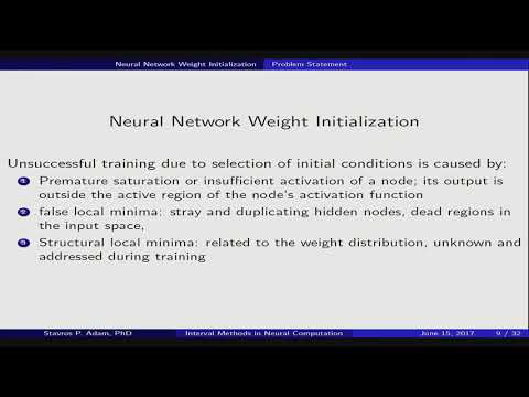 Session 6: Neural Networks - Interval Methods for Resolving Neural Computation Issues
