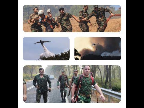 Yangın:Türkiye'nin alevlerle mücadelesi #Azerbaycan #Türkiye #OrmanYangını #Antalya #Yangın #Sondaka