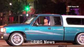 Suspected gang member leads officers on wild pursuit ending in gunfire in Los Angeles, California.