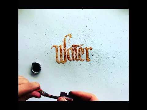 Water Calligraphy Youtube