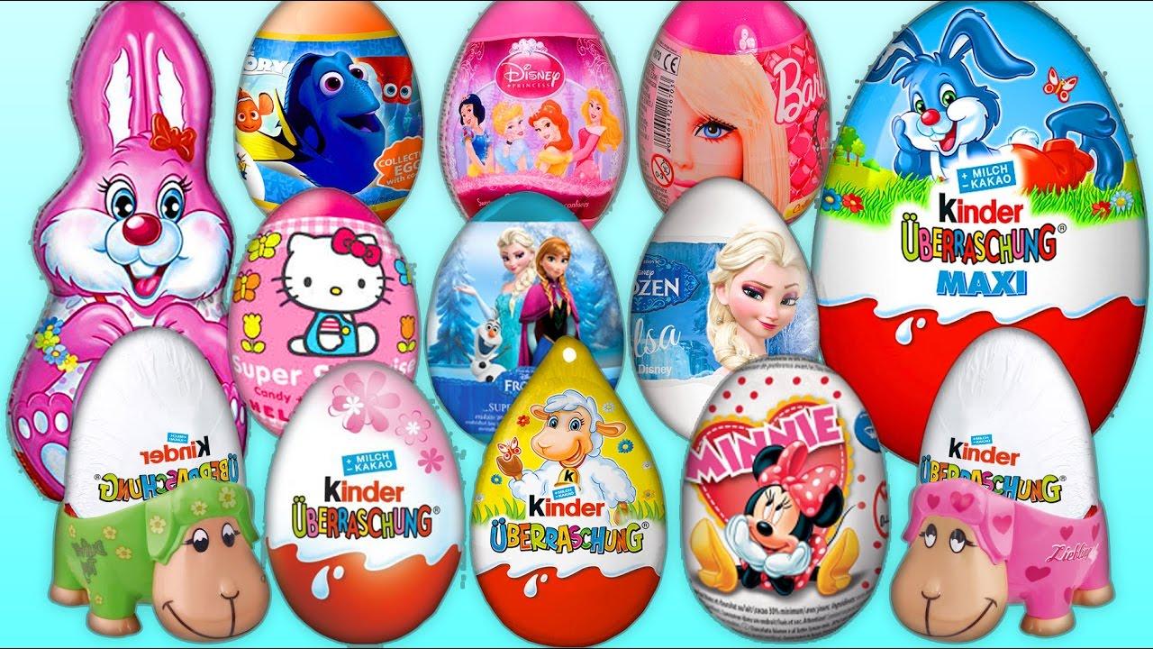 20 surprise eggs kinder joy berraschung maxi bunny disney toy disney youtube. Black Bedroom Furniture Sets. Home Design Ideas