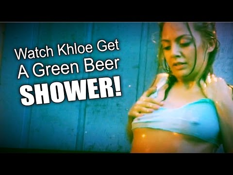 St Pattys Day Everett Green Beer Shower With Khloe