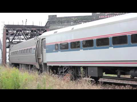 Amtrak Hiawatha & Empire Builder at Milwaukee Intermodal Sta