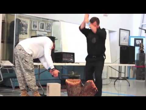 Tim Ralston of National Geographic 's Doomsday Preppers  Chinese E Tool SMASHED with the Crovel