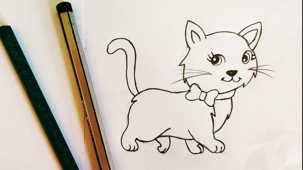 How To Draw A Cat Easy Step By Step Drawing Tutorial For Beginners And Kids Youtube Drawing of a cat easy, humans, and cats have been living side by side for a long time. how to draw a cat easy step by step drawing tutorial for beginners and kids