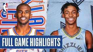 THUNDER at GRIZZLIES | FULL GAME HIGHLIGHTS | August 7, 2020