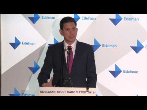Edelman Trust Barometer 2016: David Miliband - Compassion without competence