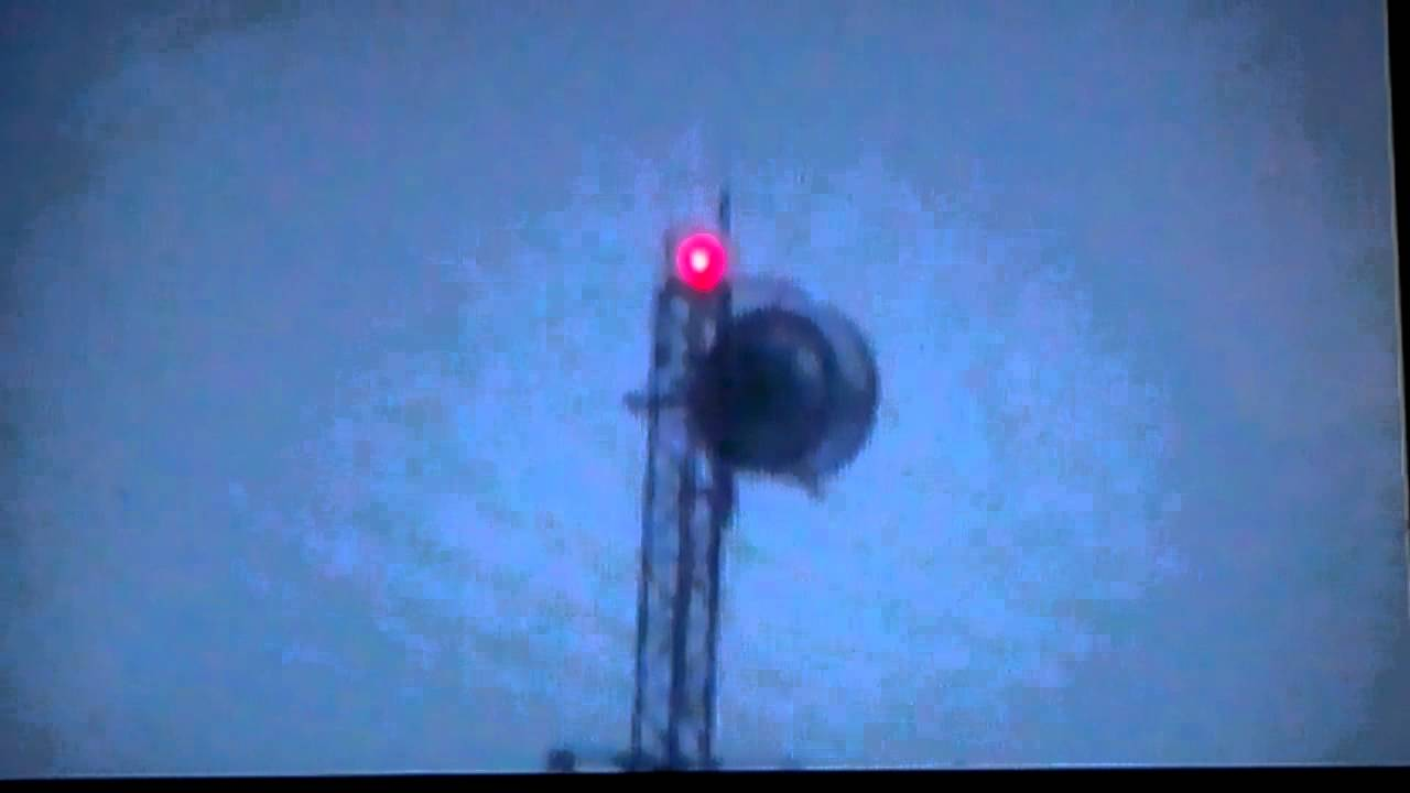 Tower microwave with strobe beacon - YouTube