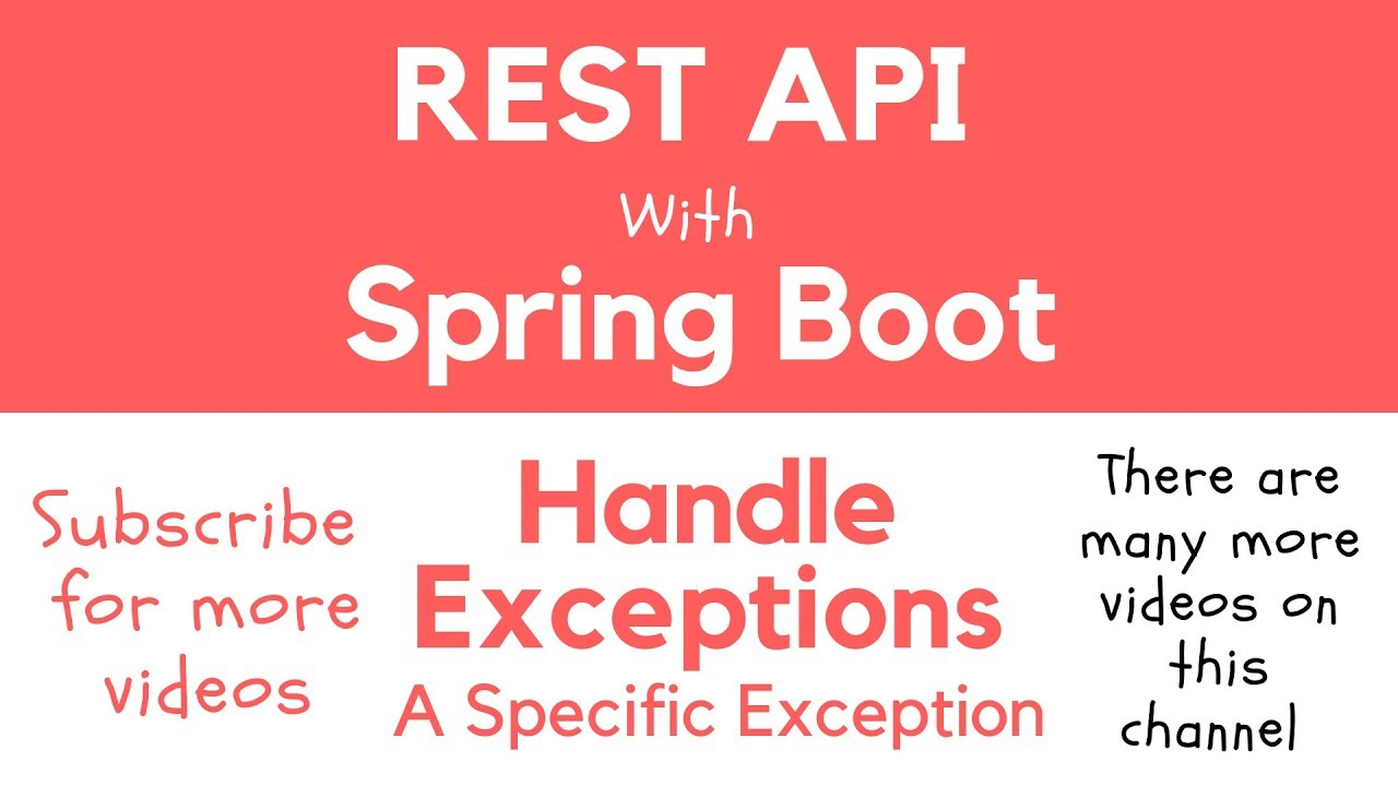 Handle Exceptions in Spring Boot RESTful Service - Apps Developer Blog