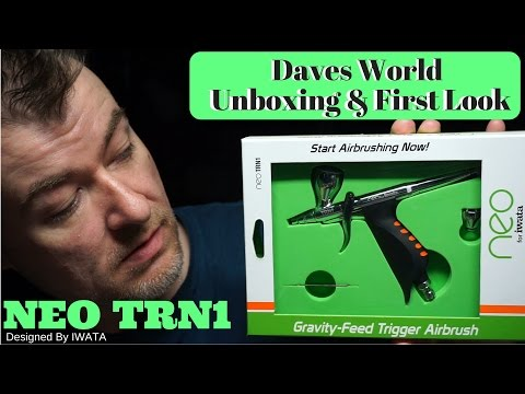 Iwata Neo TRN1 Gravity Feed Airbrush Unboxing & First Look