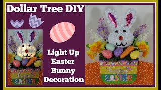 Dollar Tree DIY Light Up Easter Decoration 🐰 Fun and Easy