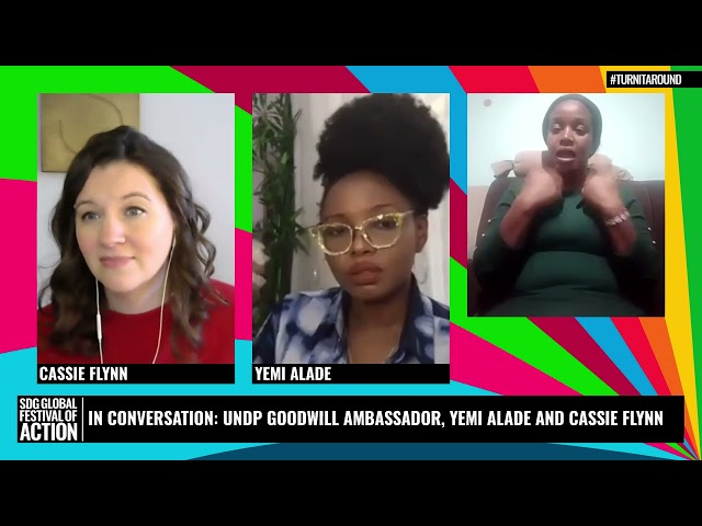 In Conversation: UNDP Goodwill Ambassador, Yemi Alade and Cassie Flynn (French)
