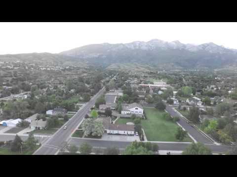 Aerial Drone Video Down Town Alpine Utah.