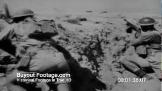 HD Stock Footage WWII Desert Victory Reel 4
