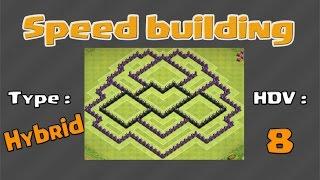 village hybride hdv 8 clash of clans
