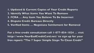 How To Clean Up Your Credit - 5 Simple Steps