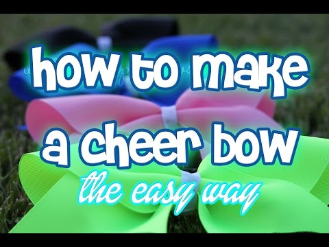 DIY Cheer Bow! (How to Make a Cheer Bow EASY)