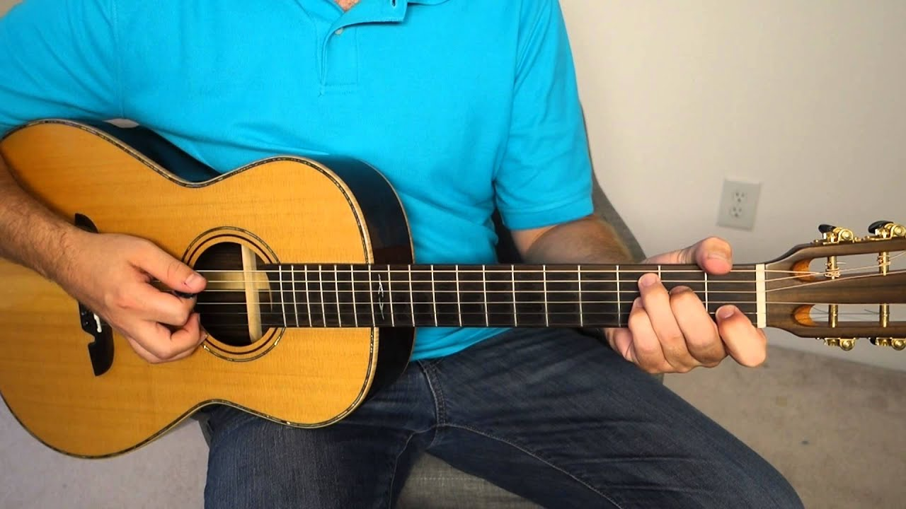 easy acoustic blues rhythm guitar lesson ve with loop