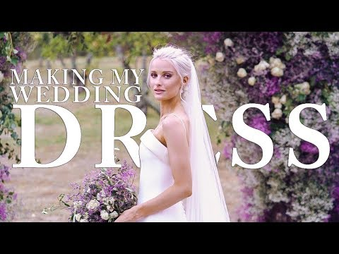 The Making of my Couture Wedding Dress and Evening Bridal Gown