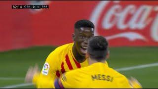 Osasuna vs Barcelona 0:2   Prvenac Moribe na Asistenciju Mesija   SPORT KLUB FUDBAL