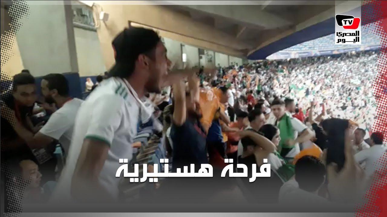 المصري اليوم:احتفال هستيري لجماهير الجزائر عقب إحراز الهدف الأول في شباك نيجيريا