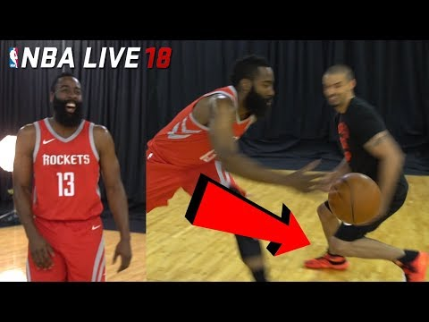 IRL Basketball vs NBA LIVE 18 COVER STAR! JAMES HARDEN BROKE MY ANKLES! (NBA Live 18 Cover Reveal)