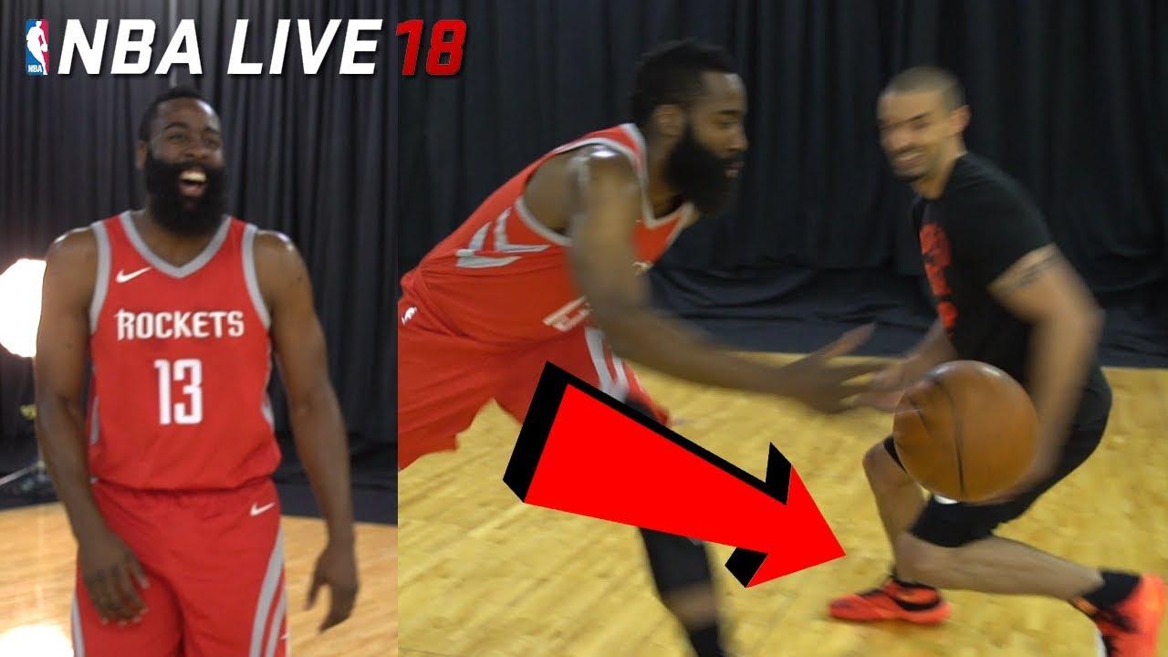 72d574f63cd IRL Basketball vs NBA LIVE 18 COVER STAR! JAMES HARDEN BROKE MY ANKLES! (NBA  Live 18 Cover Reveal)